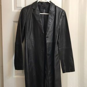 Kenneth Cole New York leather coat sz S